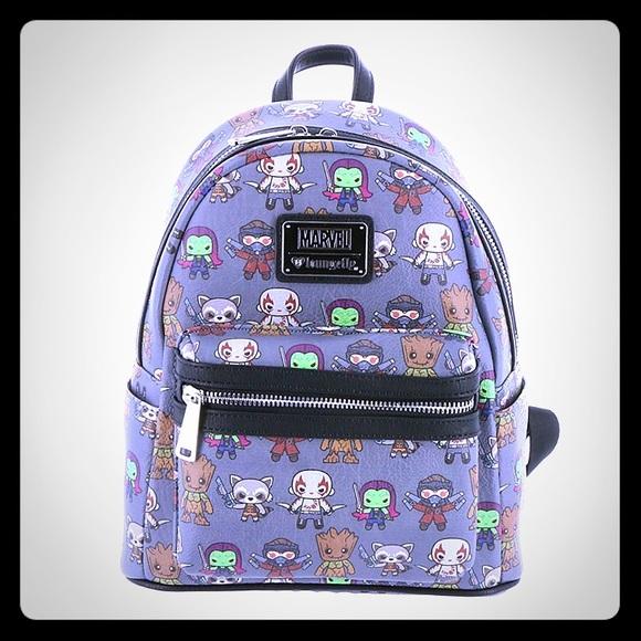 07f940b48e Loungefly Handbags - Marvel Guardians Of The Galaxy Mini Backpack
